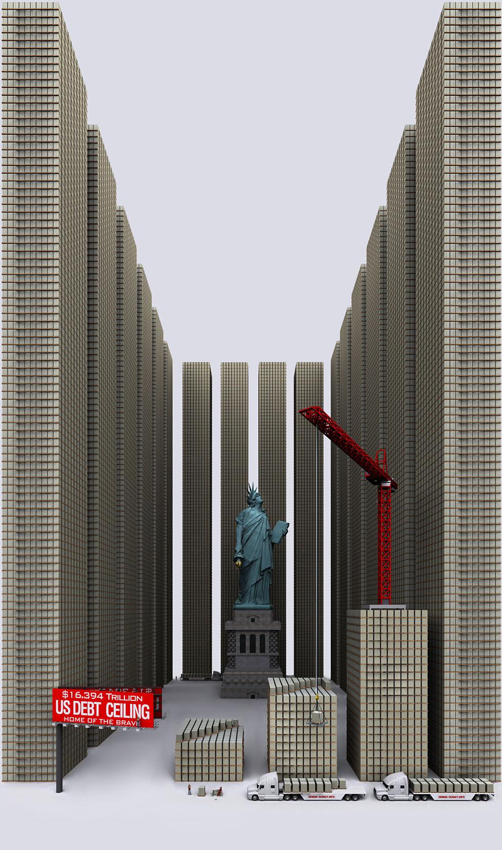 deuda de estados unidos tamaño