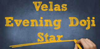 Velas Evening Doji Star