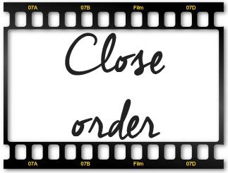 ¿Qué son las ordenes de cierre? (close order)